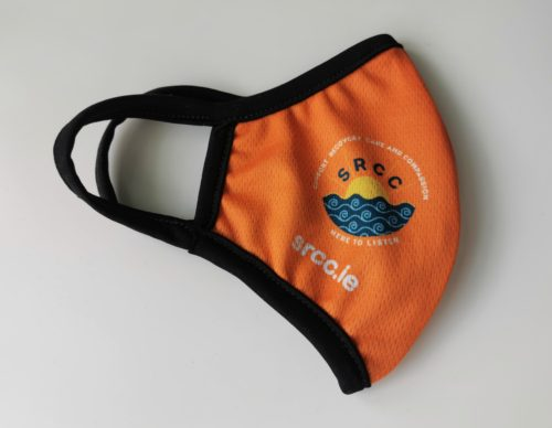 orange mask right side with SRCC logo