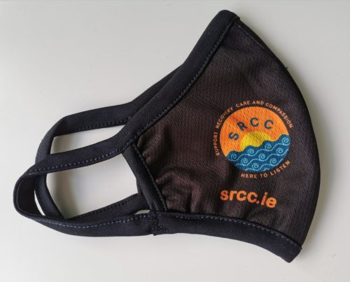 black mask left side with SRCC logo